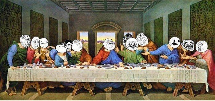 30112012: Ultima cena Memes Facebook