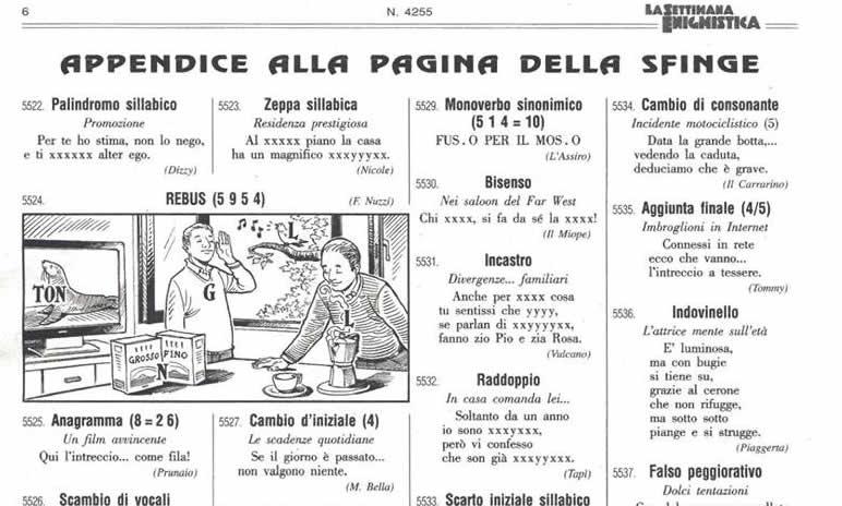17102013: Ci sono cose inspiegabili il rebus sulla Roma della settimana Enigmistica