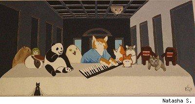 29082014: Ultima cena KeyBoardcat & Meme animals