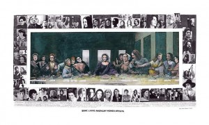 Mary Beth Edelson . Some Living American Women Artists Last Supper . 1972-2012