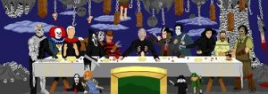 Pure Evil's Last Supper by wisemantonofski