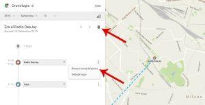 Google registra i tuoi spostamenti Google Timeline
