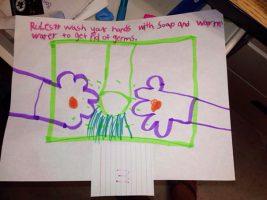 Bambini che disegnano peni senza volere_ Lavarsi le mani