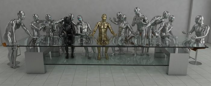 16122016: Ultima cena parodia Robot