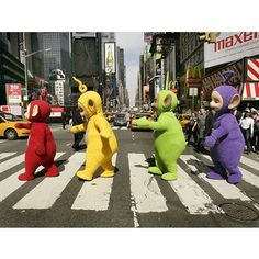 08022017: Abbey Road parody Teletubbies