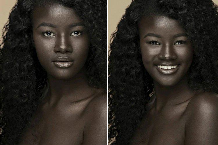 28082017: Le modelle dal colore della pelle particolare: Khoudia_Diop Melanin Goddess (La dea della melanina)