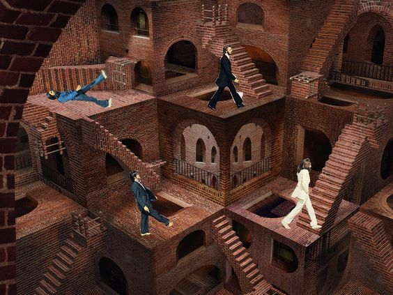 11102017: abbey road parody Escher